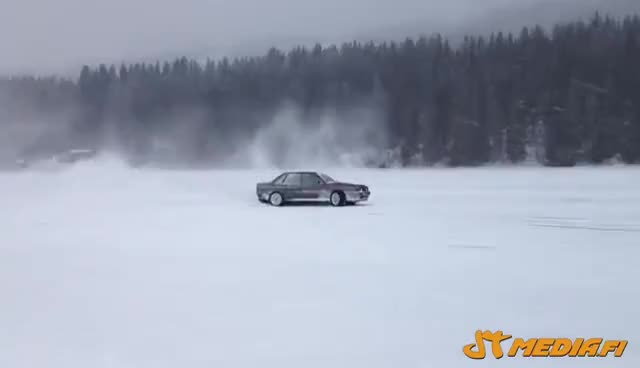 Watch and share Audi 80 Widebody Turbo Quattro On Ice Track GIFs on Gfycat