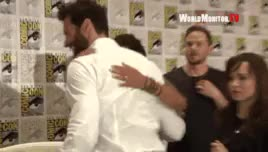 Watch and share Interracial Love GIFs and Hugh Jackman GIFs on Gfycat