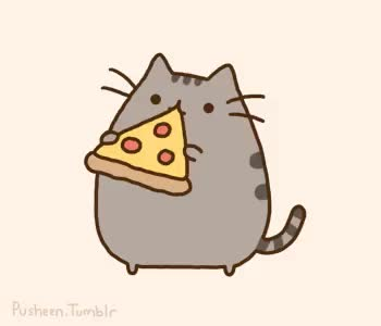 Watch and share Pusheen GIFs and Pizza GIFs on Gfycat