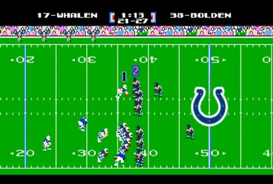 Watch and share Indianapolis Colts Trick Play (Tecmo Super Bowl Edition)! GIFs on Gfycat