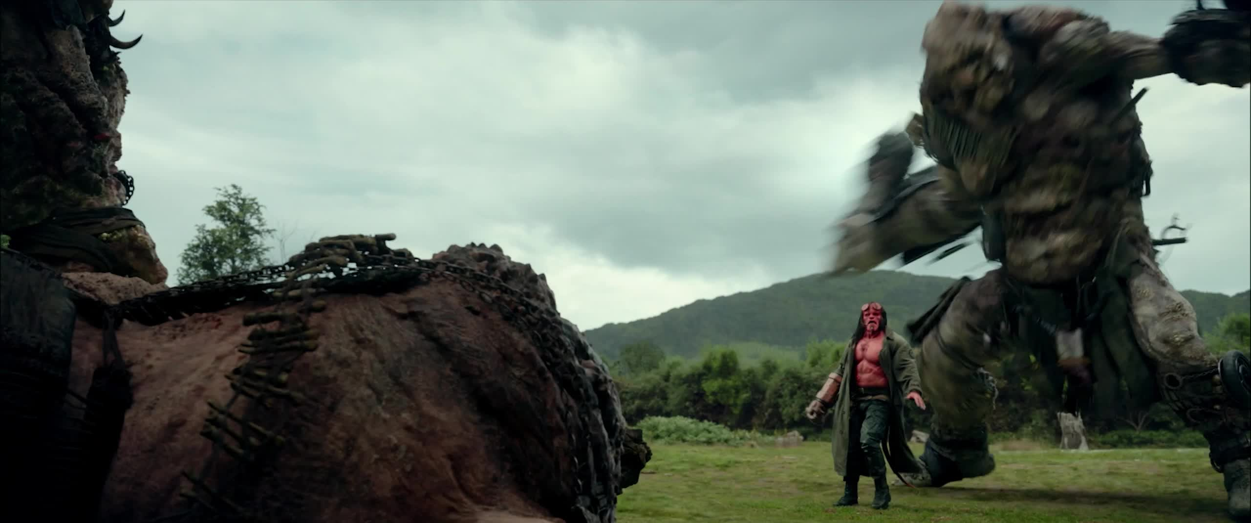 dark horse, dark horse comics, david harbour, good morning, hellboy, hellboy 2019, hellboy movie, monday, mondays, morning, smash, smashed, superhero, superheroes, wake up, Hellboy On A Monday GIFs