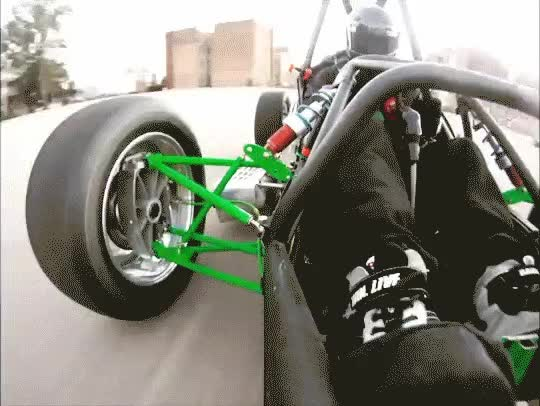 Watch Nice shot of suspension at work and heel-toe downshifting. (reddit) GIF on Gfycat. Discover more EngineeringPorn, FSAE GIFs on Gfycat