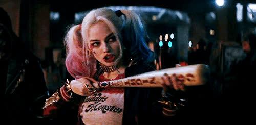 bat, celeb_gifs, celebrity, gun, margot robbie, margotrobbie, shooting, suicide squad, Margot Robbie GIFs