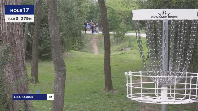 Watch 2017 WACO - Paige Pierce birdies hole 17 - Round 1, Hole 17 GIF by Ultiworld Disc Golf (@ultiworlddg) on Gfycat. Discover more dgpt, disc golf, disc golf pro tour GIFs on Gfycat