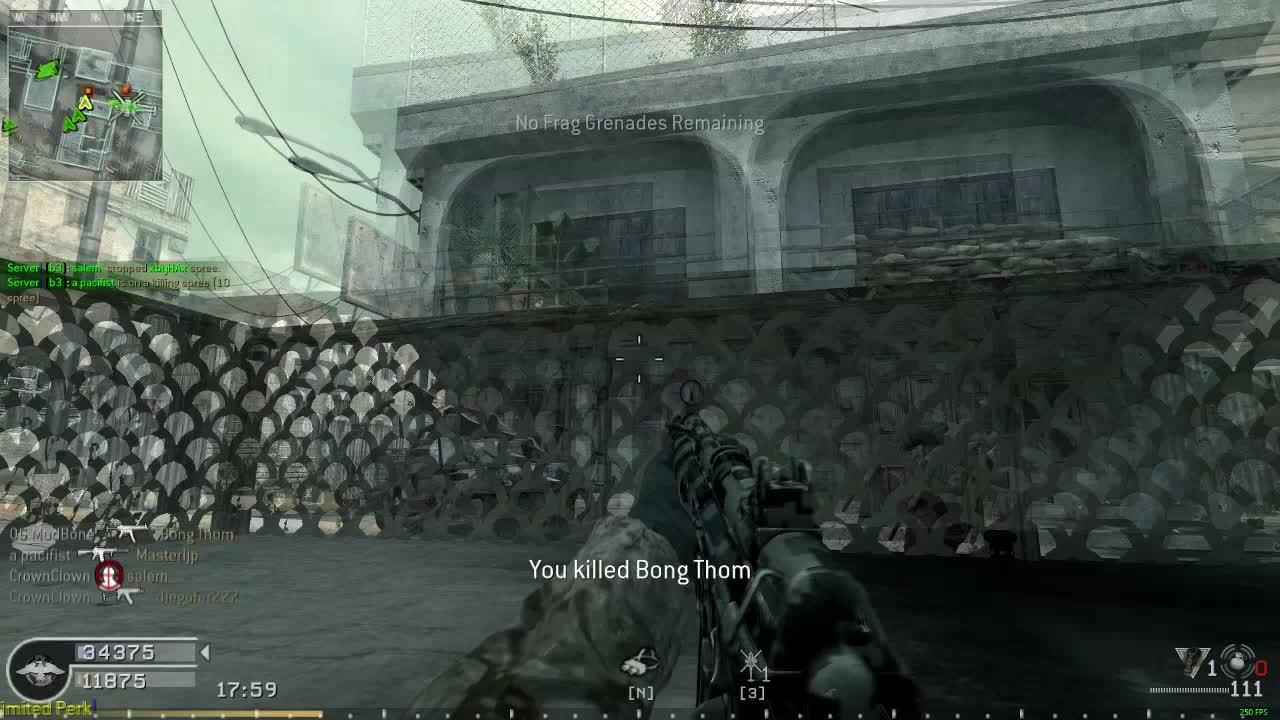 2007, 60fpsGamingGifs, call of duty 4, Miss this mp5 GIFs