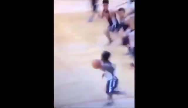 Watch and share MIDGET BASKETBALL PLAYER MAKES DEFENDER FALL HARD WITH CROSSOVER GIFs on Gfycat