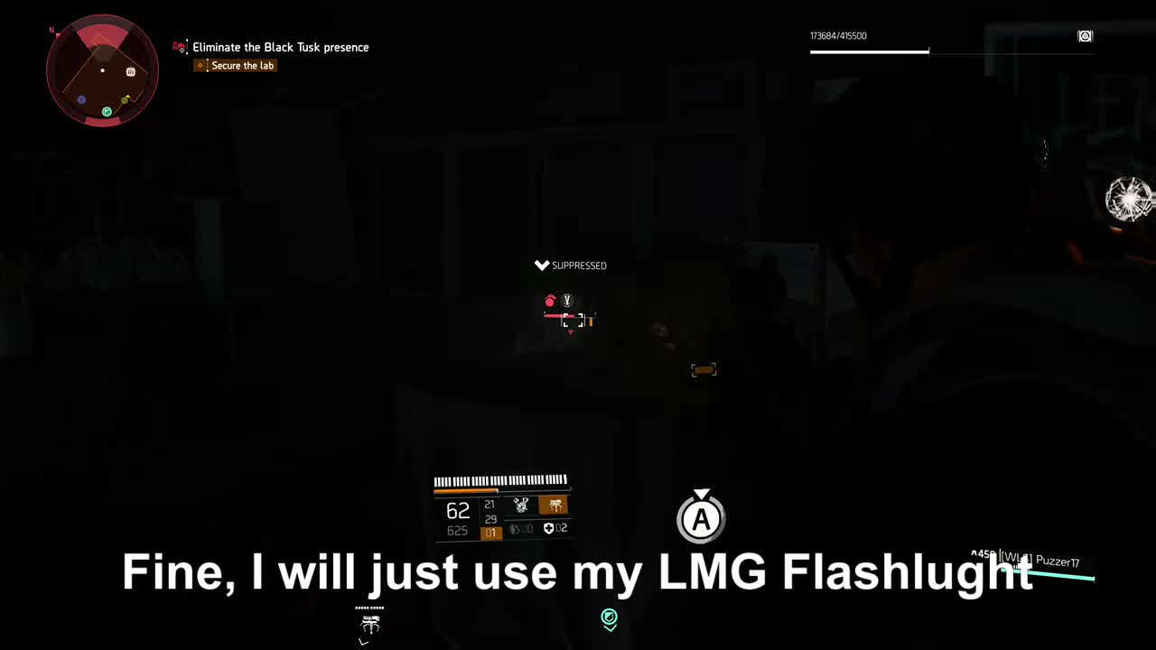 TomClancysTheDivision2, gamer dvr, lackofthinkin, xbox, xbox one, LMG Flashlight GIFs