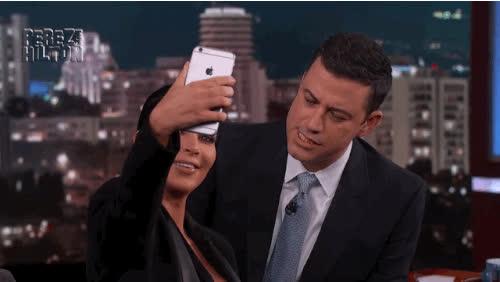 jimmy kimmel, kim kardashian, selfie, Jimmy Kimmel Kim Kardashian Selfie GIFs