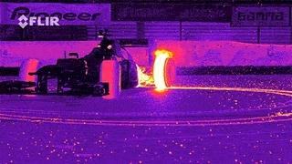 educationalgifs, geek, v8supercars, [GIF] Burnout 360 in thermal camera (reddit) GIFs