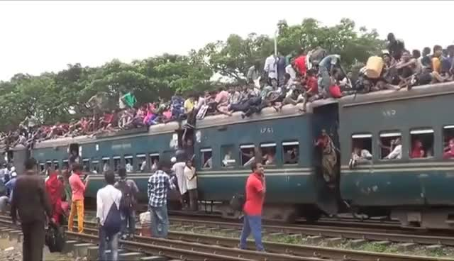 Watch and share Most Crowded Insane Bangladesh And Indian Trains - Extreme Trip GIFs on Gfycat