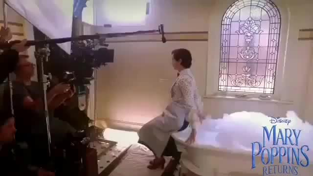Watch Filming the bathtub scene in Mary Poppins Returns GIF by tothetenthpower (@tothetenthpower) on Gfycat. Discover more related GIFs on Gfycat