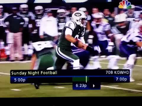 Watch and share Mark Sanchez Butt Fumble GIFs on Gfycat