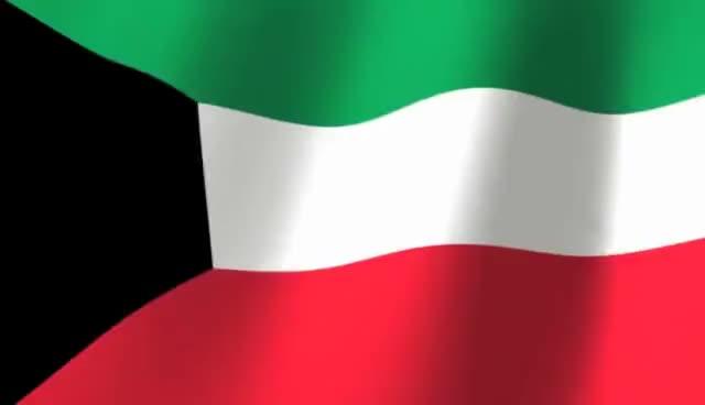 Watch and share Flag Of Kuwait - علم الكويت GIFs on Gfycat