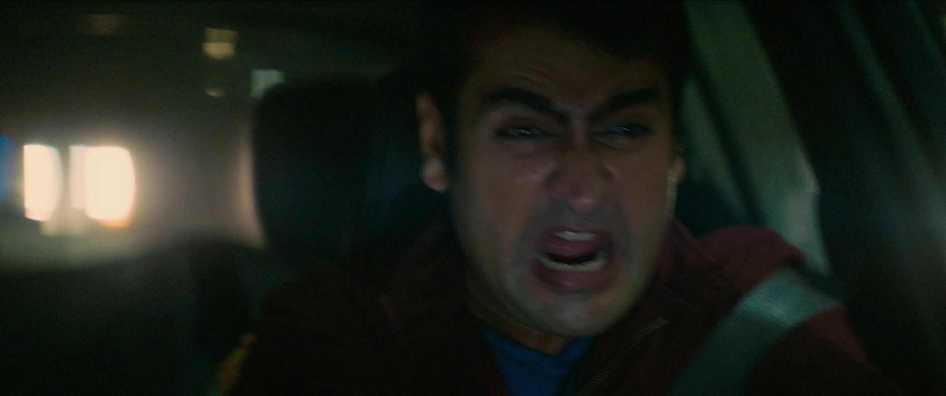 dave bautista, kumail nanjiani, scream, stuber, stuber movie, uber, Kumail and Dave Driving and Screaming GIFs