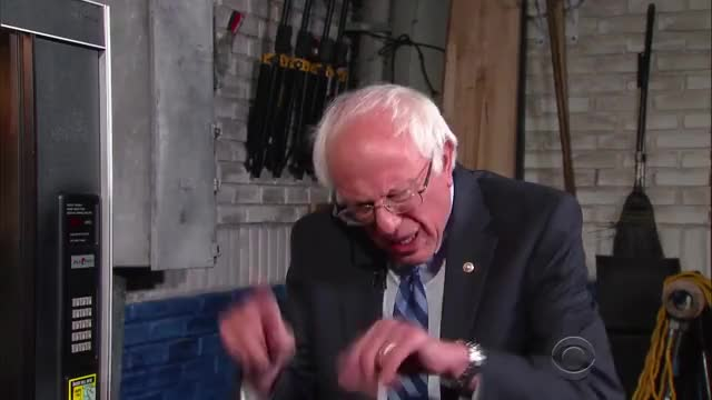 Watch and share Bernie Sanders GIFs and The Late Show GIFs by itsfoine on Gfycat