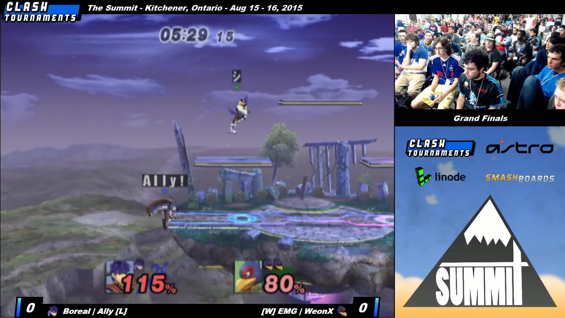 brawl, mod, pm, smash 4, smashgifs, smashtournament, ssmb, super smash bros. brawl, super smash bros. for nintendo 3ds and wii u (video game), super smash bros. for wii u, super smash bros. melee, tournament, Wall Jump - Summit - Ally (Ike) vs Weon-X (Falco) - Grand Finals - Project M GIFs