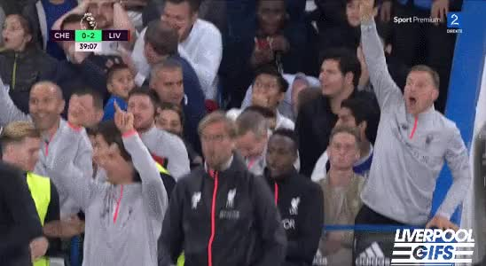 Watch and share Liverpool Gifs - Grujic's Reaction 😂😂 GIFs on Gfycat