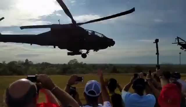 Helicopters take off after Austin F1 GIFs