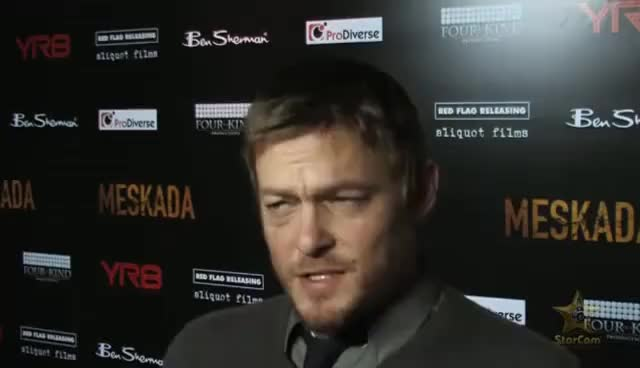 Watch Norman Reedus: Vampires or Zombies? GIF on Gfycat. Discover more All Tags, celebrity, celebs, dead, interv, norman, norman reedus, quot, reedus, starcam, walking GIFs on Gfycat