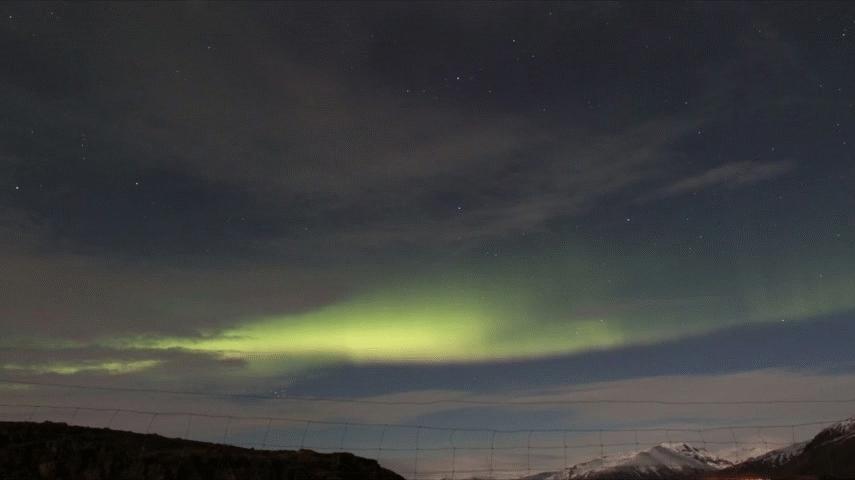 astrophotography, Iceland Aurora April 2014  GIFs