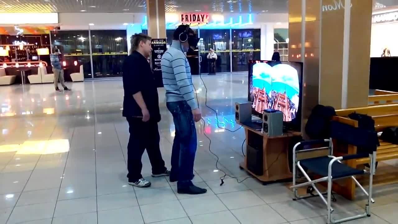 Шутник и Oculus Rift \ Oculus Rift Prank GIFs