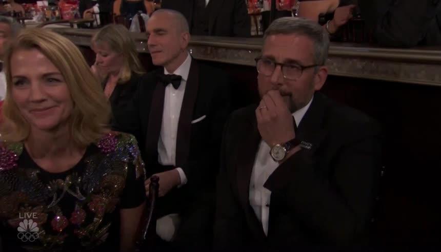 daniel day-lewis, golden globes, goldenglobes, steve carell, Steve Carell at the Golden Globes GIFs