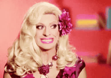 awkward, drag, eye, fake, flower, not, queen, roll, smile, teeth, uncomfortable, Awkward smile GIFs