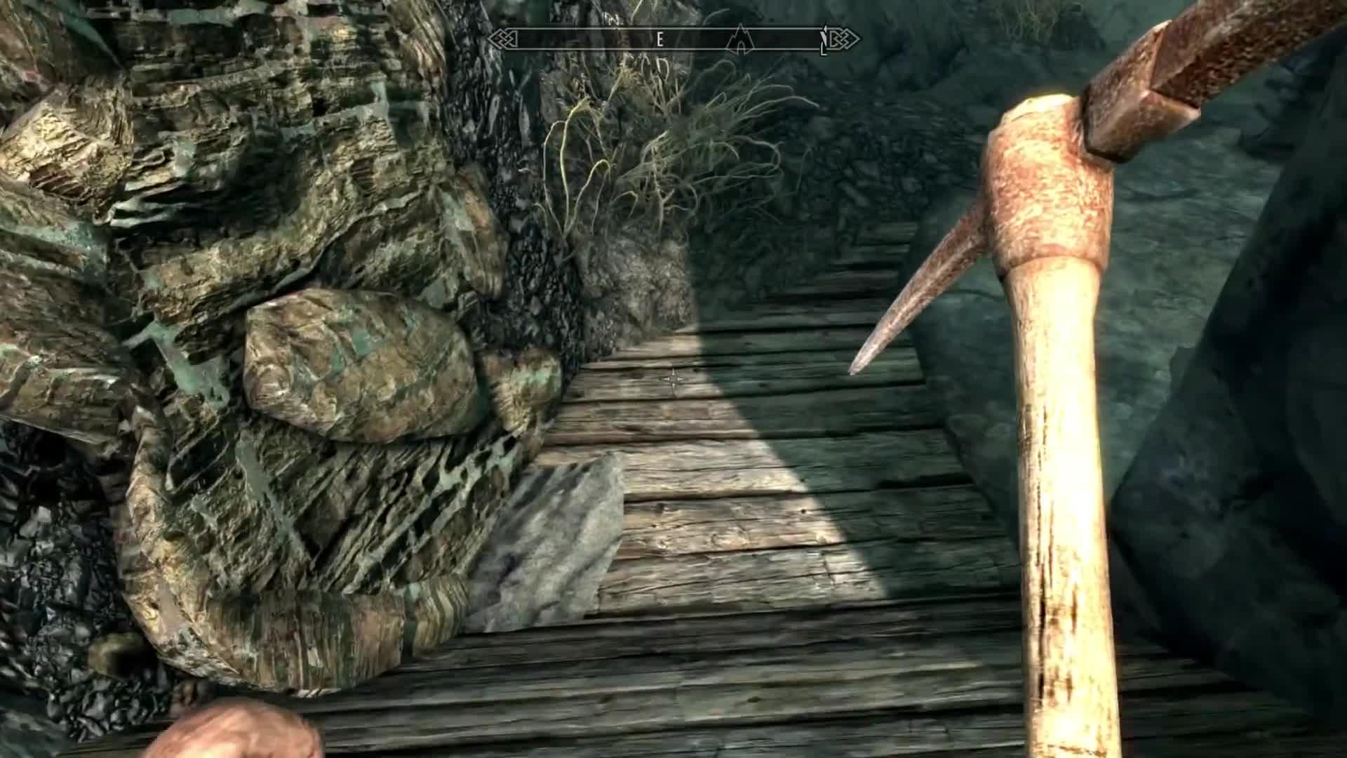 Bethesda, Elder Scrolls, Skyrim, bad, mine, mining, ore, pickaxe, sluggish, sucks, Why Skyrim's Mining Animation Is Bad - New Frame Plus GIFs