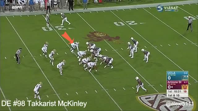Watch and share Takkarist McKinley Vs. Arizona State (2016) GIFs by oriese on Gfycat