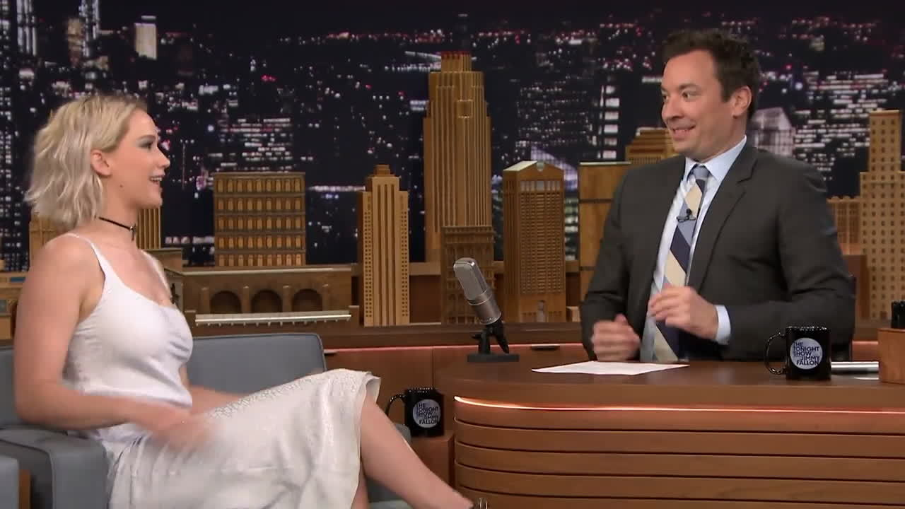 Jimmy Fallon, funny, jenniferlawrence, jlaw, Jennifer Lawrence agghhhh GIFs