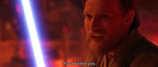 Watch and share I Have Failed You GIFs on Gfycat