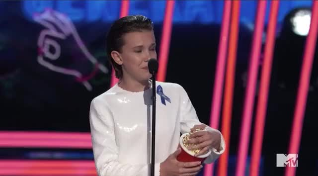 Watch this mtv awards GIF by GIF Reactions (@visualecho) on Gfycat. Discover more MTV Awards 2017, MTVAwards, MTVAwards2017, Millie Bobby Brown, choked up, tears GIFs on Gfycat