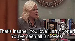 Watch and share Parks And Rec GIFs and Harry Potter GIFs on Gfycat