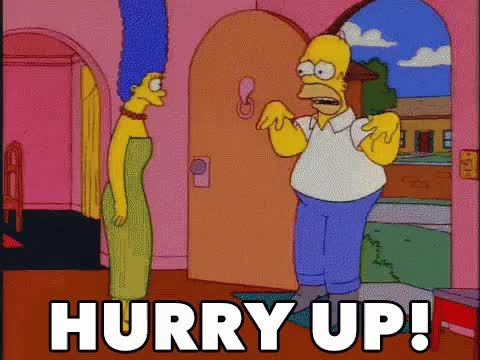 Watch this homer GIF on Gfycat. Discover more homer, homer simpson, hurry, hurry up, simpsons, the simpson GIFs on Gfycat