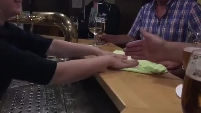 Watch and share Having Fun With The Bartender GIFs on Gfycat