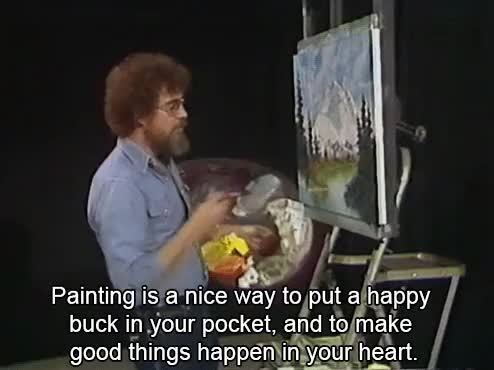 Watch and share Bob Ross Appreciation Post GIFs on Gfycat