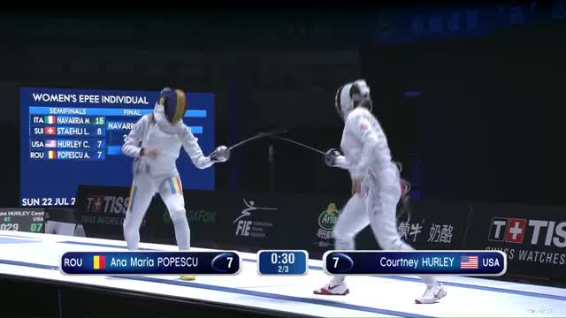 Watch Ana Maria POPESCU 8 GIF by Scott Dubinsky (@fencingdatabase) on Gfycat. Discover more gender: female, leftname: Ana Maria POPESCU, leftscore: 8, rightname: Courtney HURLEY, rightscore: 7, time: 00000729, touch: left, tournament: wuxi2018, weapon: epee GIFs on Gfycat