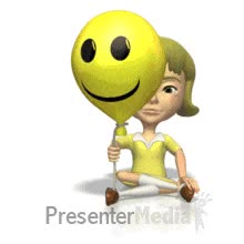Watch and share ID# 193 - Funny Face Balloon Girl - PowerPoint Animation GIFs on Gfycat