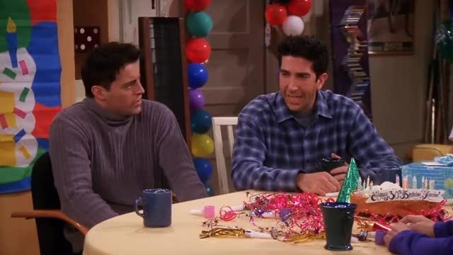 Friends - 30th Birthday Rachel... and plan... 30th 30 Friends, watch Friends, friendship, love, drama, comedy, TV series, TV series Friends, watch, HD, FHD, English, Друзья, смотреть, season 7, th, birthday, Rachel, plan, Tag, kiss, broke up, wedding, pregnant, kids, future GIF