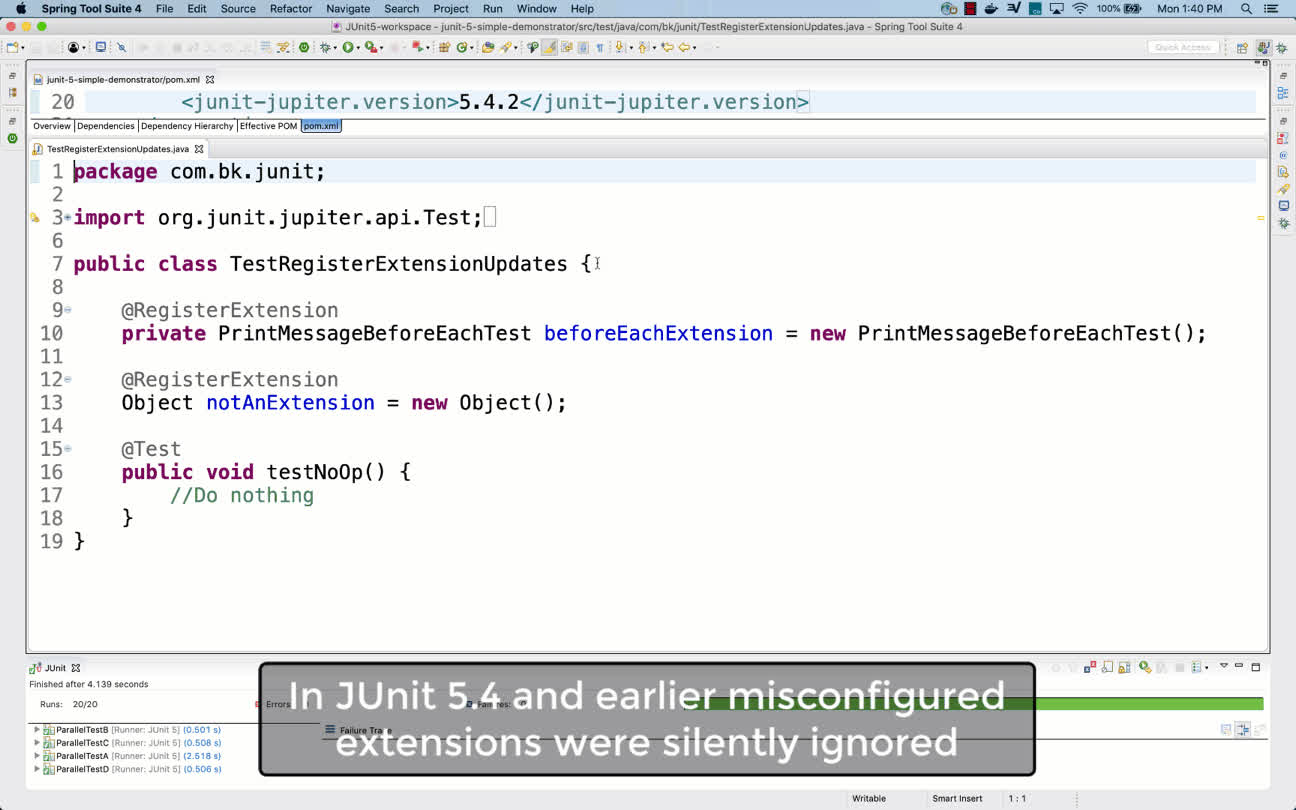 automated test, java, junit, register-extension-updates GIFs