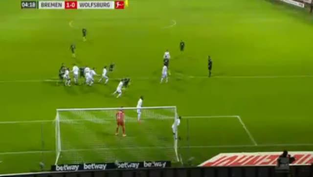 Ludwig Augustinsson Goal HD - Werder Bremen 1-0 Wolfsburg 11.02.2018