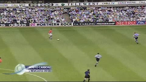 Watch and share Benito Carbone. Newcastle - Sheffield Wednesday. 09.08.1997 GIFs by fatalali on Gfycat