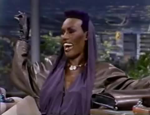 Watch this trending GIF on Gfycat. Discover more Grace Jones, Laugh, Tonight Show GIFs on Gfycat