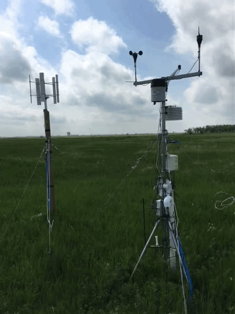 Weather station on a windy day. GIFs