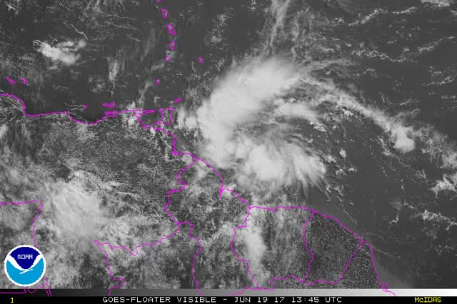 Watch and share Tropical Storm Bret - June 19, 2017 GIFs by The Watchers on Gfycat