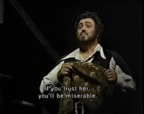 Watch Luciano Pavarotti - La donna e mobile - Live 1981 GIF on Gfycat. Discover more related GIFs on Gfycat