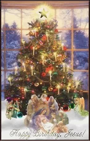 Watch and share Free Xmas-Tree-Nativity.gif Phone Wallpaper By Grumpy68 GIFs on Gfycat