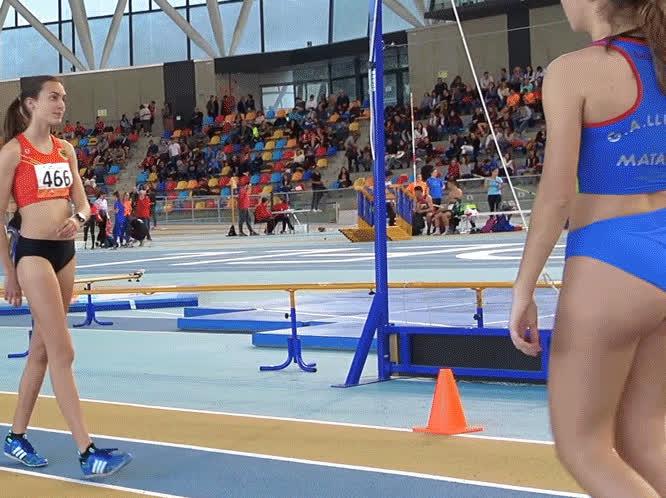 Spanish Track Girl Warm Up