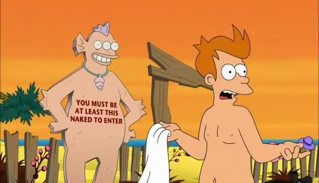 Futurama fry naked