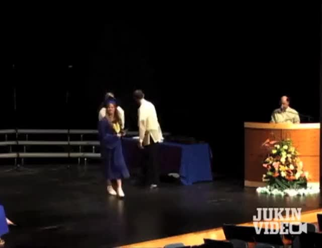 Watch and share Trying To Do A Backflip After Picking Up Your Diploma WCGW (reddit) GIFs by amateurcreampie on Gfycat